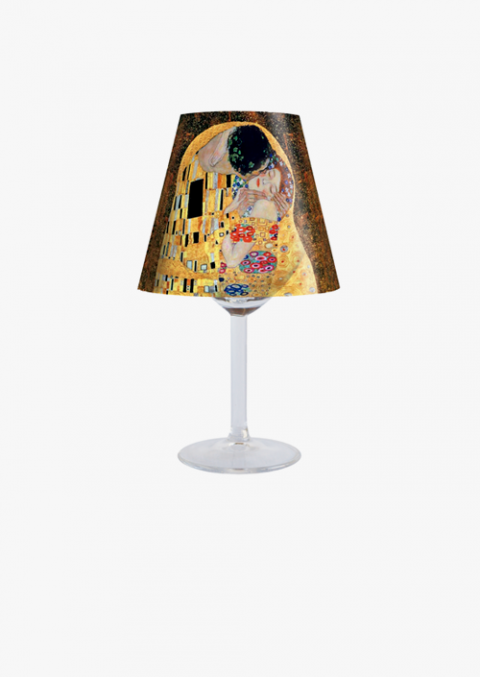 Lampshade for candle holder The Kiss, design inspired by the work of Gustav Klimt