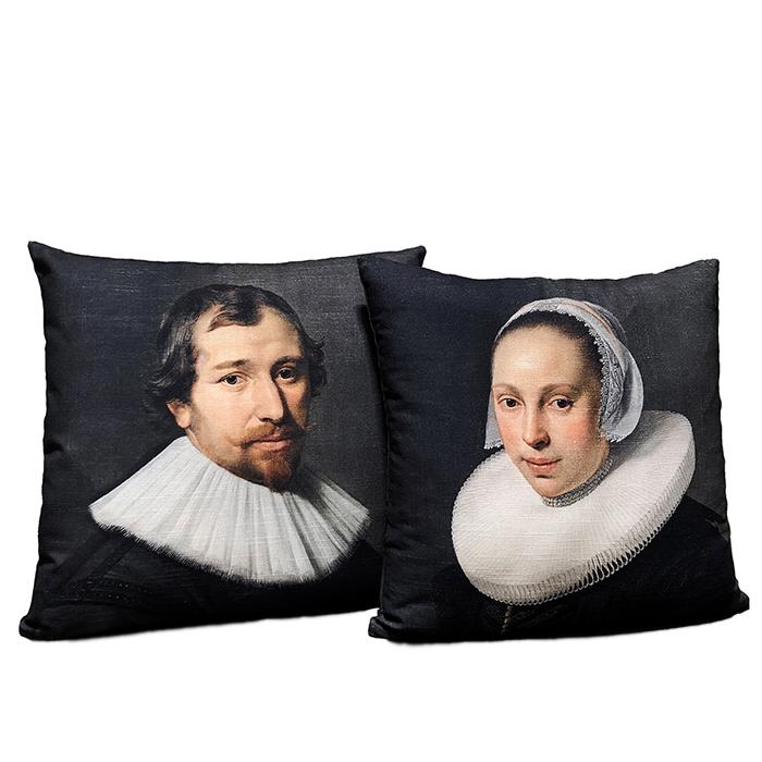 Cojines exposición Rembrandt. Thyssen-Bornemisza