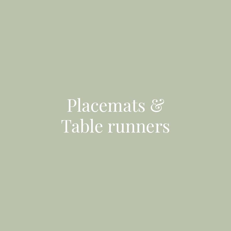 Individuales y caminos de mesa