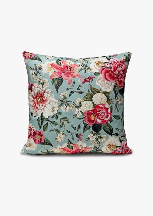 Decorative cotton fabric cushion cover. Floral Design