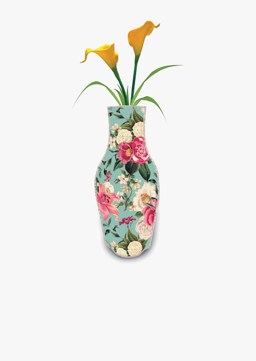 Decorative vase made of cotton fabric. inspired by Laura Ashley designs